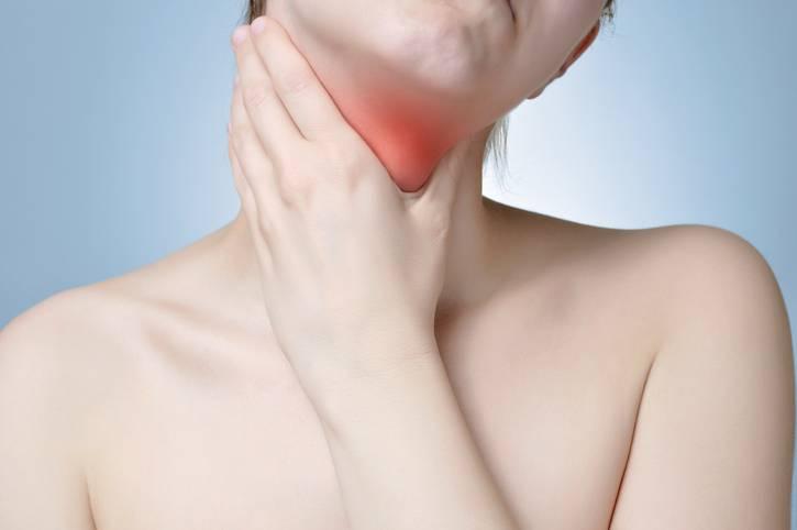 Whtas behind the thyroid